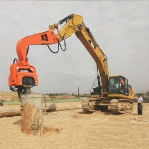 300mm Prestressed Concrete Pipe Vibratory Pile Hammer High Frequency Vibratory Pile Hammer / Driver Manufactures
