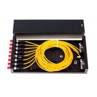 8 Port Fiber Optic Distribution Frame ODF FC SC LC ST Black Fiber Optic Patch Panel Manufactures