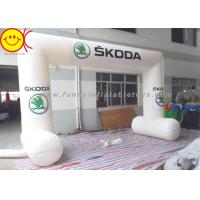 White Inflatable Start Finish Arch , Waterproof Inflatable Entrance Arch Manufactures