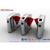 Flap Barrier Gate TCP / IP Flap Turnstile Security Gate Access Control Wheelchair Lanes For Subway Doors Manufactures