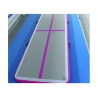 Fireproof Inflatable Air Track Gym Mat Excellent Air Tightness With Smooth Surface Manufactures