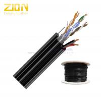 Aerial Network Cable FTP CAT5E 24 AWG Solid Copper with Messenger for IP Camera Manufactures