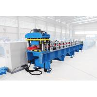 Glazed Tile Ridge Cap Roll Forming Machine With 8 - 12m / Min Forming Speed Manufactures