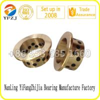 JFB series Oilless Solid inlaid copper bushing Flange graphite bronze bushes Manufactures