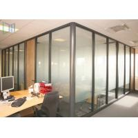 Quality Professional Office Glass Partition Walls , Aluminum Partition Wall For Door for sale
