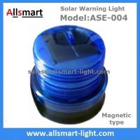 Quality 4LED Red Flash Solar Powered Magnet Signal Lights Traffic Barricades Lamp Solar for sale