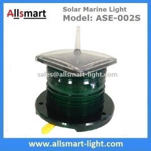 Quality 2-3NM Amber Solar Marine Aquaculture Beacon Light With Bird Spike Solar for sale