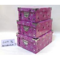 Sturdy Recycled High Gloss Gift Boxes , Gift Storage Purple Three Fold Paper Box Manufactures