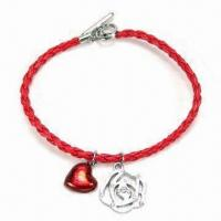 Bracelet with Zinc Alloy Charms, OEM Orders are Accepted, Suitable for Promotional Gifts Manufactures
