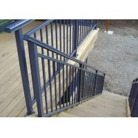 Eco Friendly Lightweight Exterior Aluminum Stair Railings Without Glass ISO Manufactures
