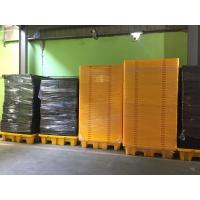 Highly Visible IBC Spill Containment Pallet HDPE For Chemical Oil Tank Manufactures