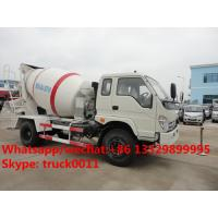 Quality factory direct sale best price FORLAND 4*2 RHD cement mixer truck, hot sale forland RHD 4m3 concrete mixer drum truck for sale