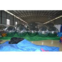 Fireproof Silver Giant Inflatable Balloons , Inflatable Mirror Ball For Promotion Manufactures