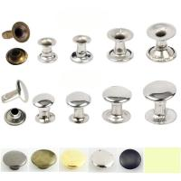 Factory outlet 5mm-12mm double side brass Stainless steel iron mushroom or caps tube rivet for handbag jeans cloth shoes Manufactures