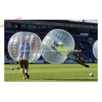 Big Clear PVC Inflatable Body Zorb , Football Games Bubble Bumper Ball 1.3mH Manufactures