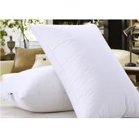 Microfiber Filling Hotel Collection Pillows For Nursing / Sleeping Rectangle Shape Manufactures