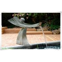 Pool Ornaments Waterfall Fountain , Stainless Water Feature For The Garden Manufactures