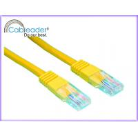 High Speed Cat5e Network Cables with Yellow Color Manufactures
