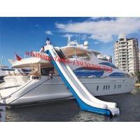 inflatable water slide for yachts , inflatable water slides for boats , inflatable boat slide Manufactures