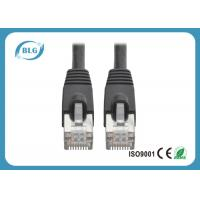China Customized Shielded Cat6 Patch Cable , Round STP Patch Cord RJ45 Male Plugs on sale