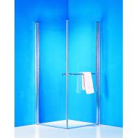 Quality Stainless Handle 900 × 900 Shower Enclosure Pivot Glass Shower Doors With Towel Rack for sale