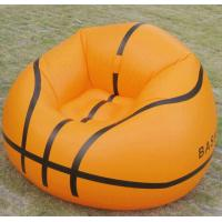 Yellow PVC Round Modern Inflatable Furniture , Single Inflatable Pool Sofa Chairs Manufactures
