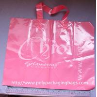 OEM Pink LDPE Soft Loop Handle Bag Promotional Shopping Bags Manufactures