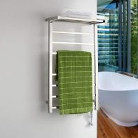 ONDA.WARMER  7 bars Stainless Steel Wall Mounted Electric Heated Towel Rack Warmer With Shelf Manufactures