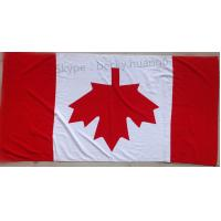 Buy cheap Flag of Canada 21s 100% cotton beach towel  70*140cm from wholesalers