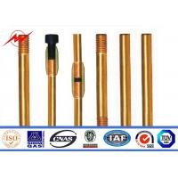 Underground Copper Clad Steel Ground Rod Cover Clamps Lighting Protection Manufactures
