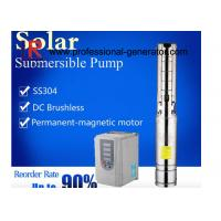 Brushless Solar Powered Submersible Water Pumps Deep Well High Pressure Manufactures