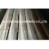 Black Quarter Cut Sliced Veneer Macassar Ebony Veneer For Furniture Manufactures