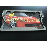 Slim Style Car License Plate Frame Durable Zinc Die Cast Metal Frame Manufactures