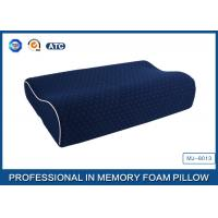 China Supplier Blue Memory Foam Support Pillow Contour Wave Shaped Manufactures