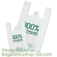 Eco friendly Compostable Dog Poop Bags Shopping bags Supermarket Shopping Bags T-shirt Bags Compostable Bags Trash Bags Manufactures