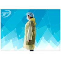 PE  Visitor Disposable Medical Garments With Polyethylene Fabric CE Certificated Manufactures