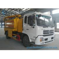 Vacuum Suction Sewer Cleaning Truck Vacuum Tank Truck Dual Axle DONGFENG 210hp Manufactures