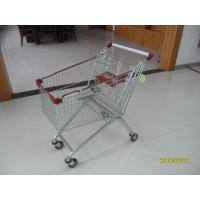 Quality Popular 125L Grocery Store Shopping Cart With Zinc Plated Clear Powder Coating for sale