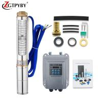 China 100m deep well solar water pump submesible solar water pump home on sale