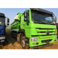 Green Color HOWO Rear Heavy Duty Dump Truck 30 Cubic Meter Easy Operation Manufactures