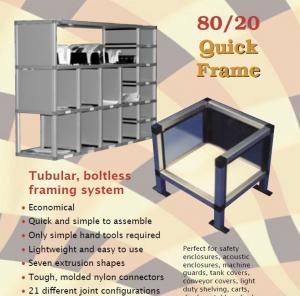 Quality Rectangle, square tube aluminium shelf brackets aluminum shelves for storage/ for sale