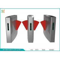 Stainless Steel Retractable Flap Barrier Gate Access Control Automatic Turnstiles Manufactures
