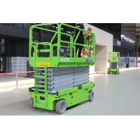 Mobile electric elevated work platform 14m scissor lift with 320kg capacity Manufactures