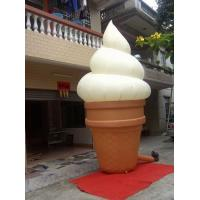 0.45mm PVC Custom Inflatable Ice Cream Products for Shopping Mall White Manufactures