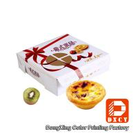 Environmental Square Paper Food Boxes Egg Tart Window Paper Box Manufactures