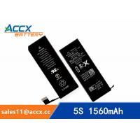 Brand new high quality li-polymer replacement internal battery for IPHONE 5S/5C with 3.8V 1560mAh Manufactures