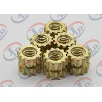 Buy cheap CNC Machine Parts Brass Gear Shape Nuts For Plasctic Inserts , SGS ISO Listed from wholesalers