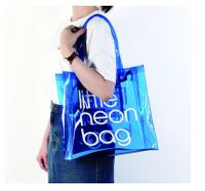 Clear PVC Clear Tote Bag , Logo Printing Custom Blue PVC Travel Bag Manufactures