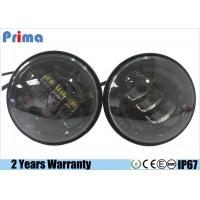 4.5 Inch 30W Harley Motorcycle LED Headlights No Halo Ring Waterproof IP67 Manufactures