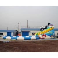 Quality Best price summer fun kids games killer whale design inflatable water park with for sale